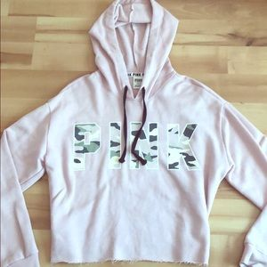 A cropped hoodie from Pink